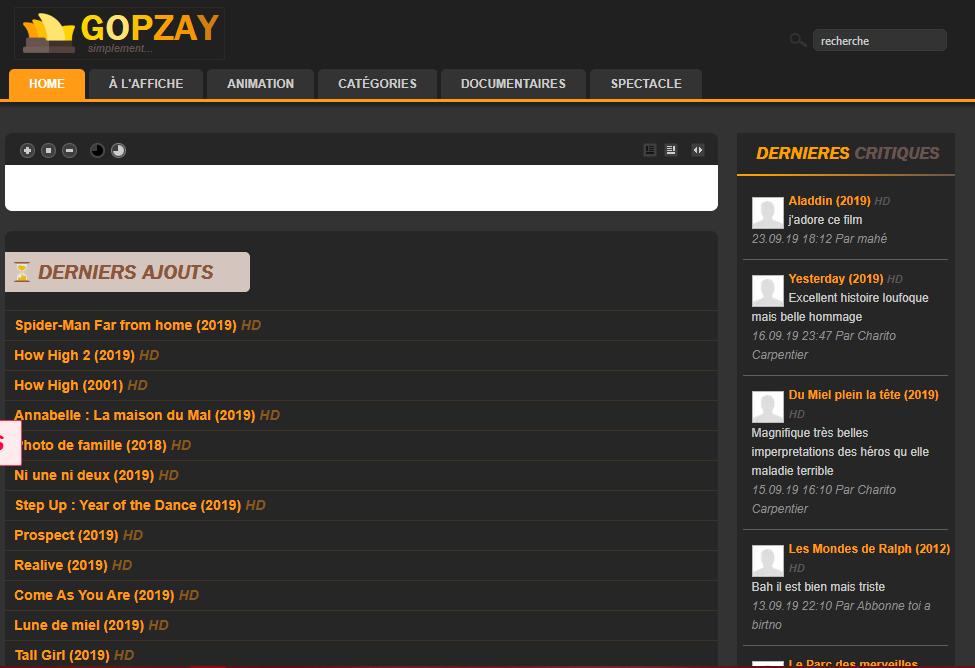 Gopzay site de streaming